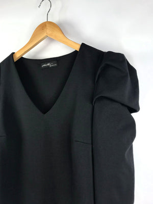 Puff Sleeve Black Top