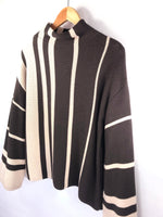 Funnel Neck Color-Block Sweater