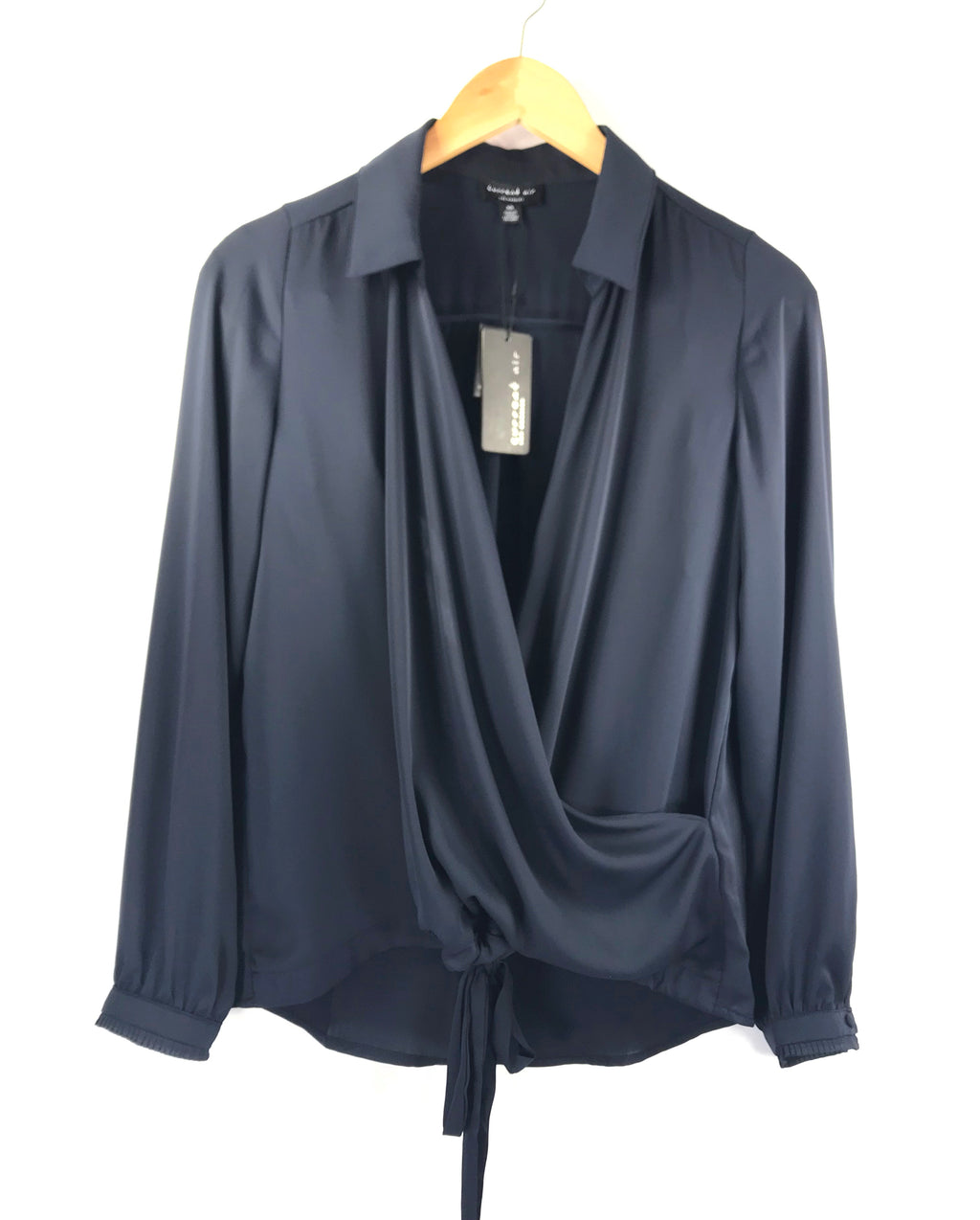 Wrapover Blouse in Navy