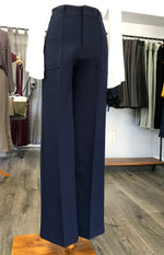 Megan Wide Leg Pant - Navy