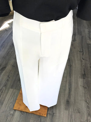 Megan Wide Leg Pant - White