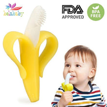 Load image into Gallery viewer, Banana Baby Teether Safe Food Grade Silicone Teething Mitts Infant Dental Care Teethers Toy Gifts Teether