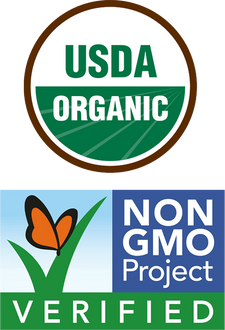 USDA ORGANIC, NON GMO PROJECT VERIFIED.