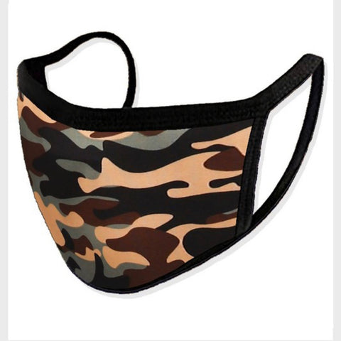 Printed Camo Face Mask