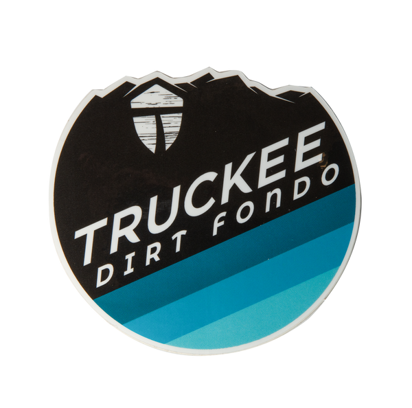 "Truckee Dirt Fondo Vinyl Sticker (2020 Edition) 3"" - Black & Teals"