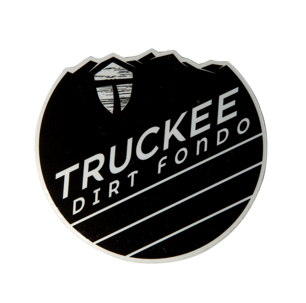 "Truckee Dirt Fondo Vinyl Sticker (2020 Edition) 3"" - Black & White"