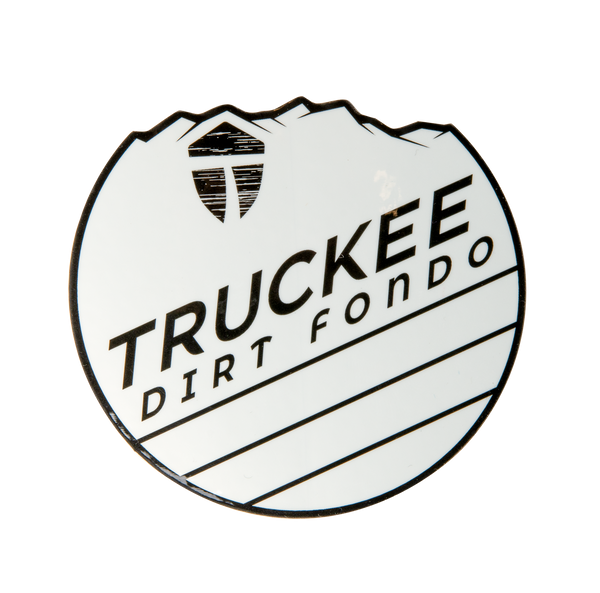 "Truckee Dirt Fondo Vinyl Sticker (2020 Edition) 3"" - White & Black"