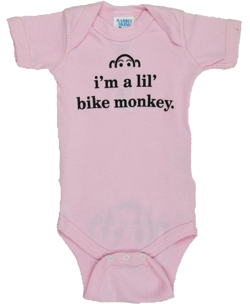I'm a lil' bike monkey One-piece - Newborn