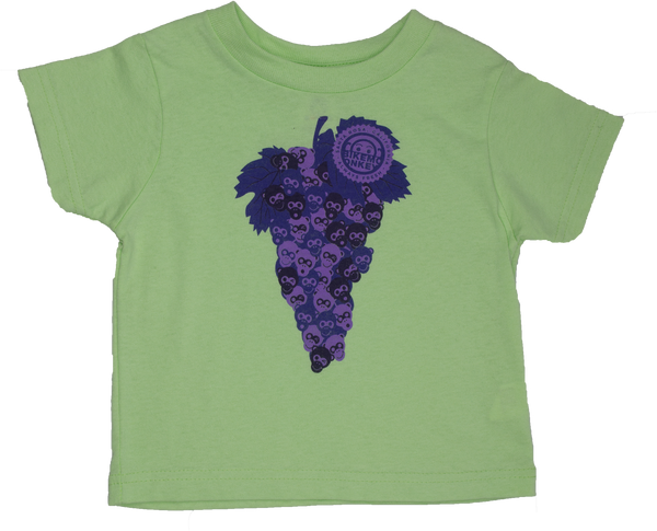 Toddlers Bike Monkey Grapes of Monkey T-Shirt