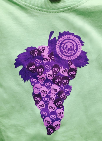 Toddlers Bike Monkey Grapes T-Shirt