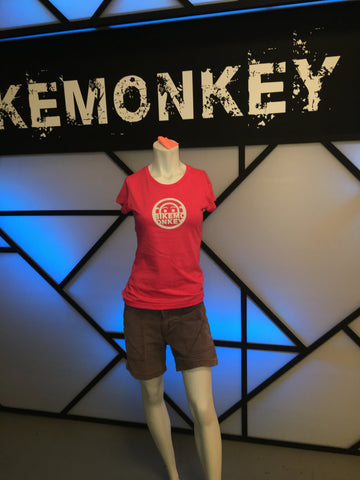 Women's Bike Monkey Circle Logo Tee