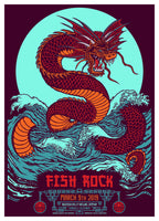 Fish Rock Race Serpent poster by Fred Strucholz