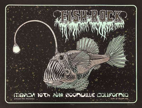 Fish Rock Angler poster by Fred Struckholz