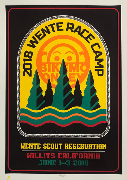 Wente Camp poster by Carlos Perez and Fred Struckholz