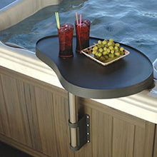 Hot Tub Drinks Table in  black