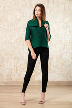 Load image into Gallery viewer, Uptown Criss Cross Top - Emerald Green