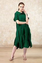 Load image into Gallery viewer, Eazy Breezy Emerald Green Dress