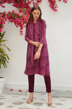 Load image into Gallery viewer, Klassy Kiara Tunic Set with Co- ordinated Scarf and Trouser - Magenta