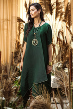 Load image into Gallery viewer, Asymmetrical Cape Dress - Green
