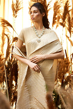 Load image into Gallery viewer, Classy Pleated Gown Saree - Nude