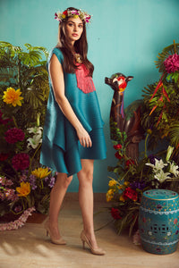 Flap-it-up Dress - Teal