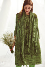 Load image into Gallery viewer, Klassy Kiara Tunic Set with Co- ordinated Scarf and Trouser - Green
