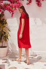 Load image into Gallery viewer, Blair Brag Me Dress - Chilli Red