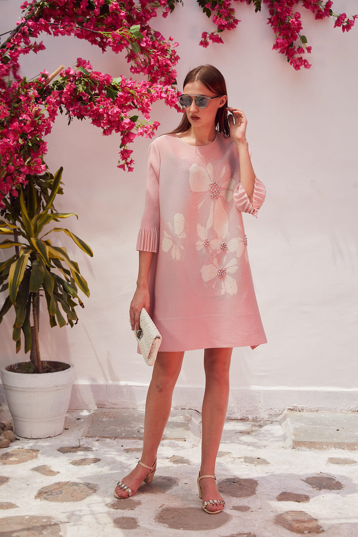 Dainty Pearl Dress - Baby Pink