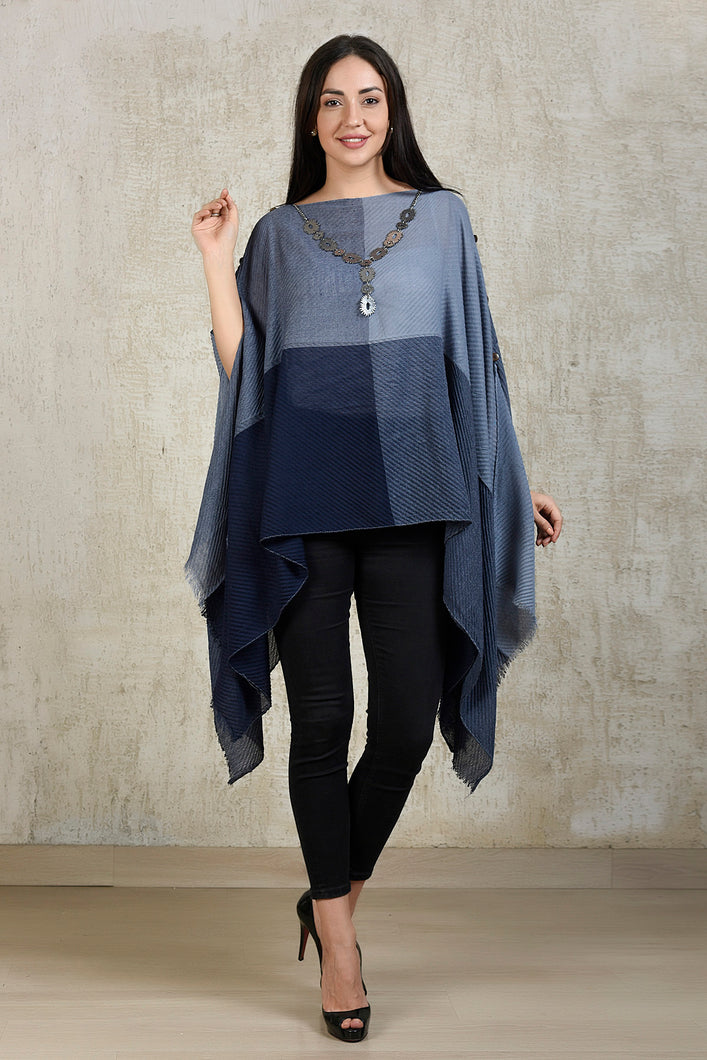Block Cape Top - Blue