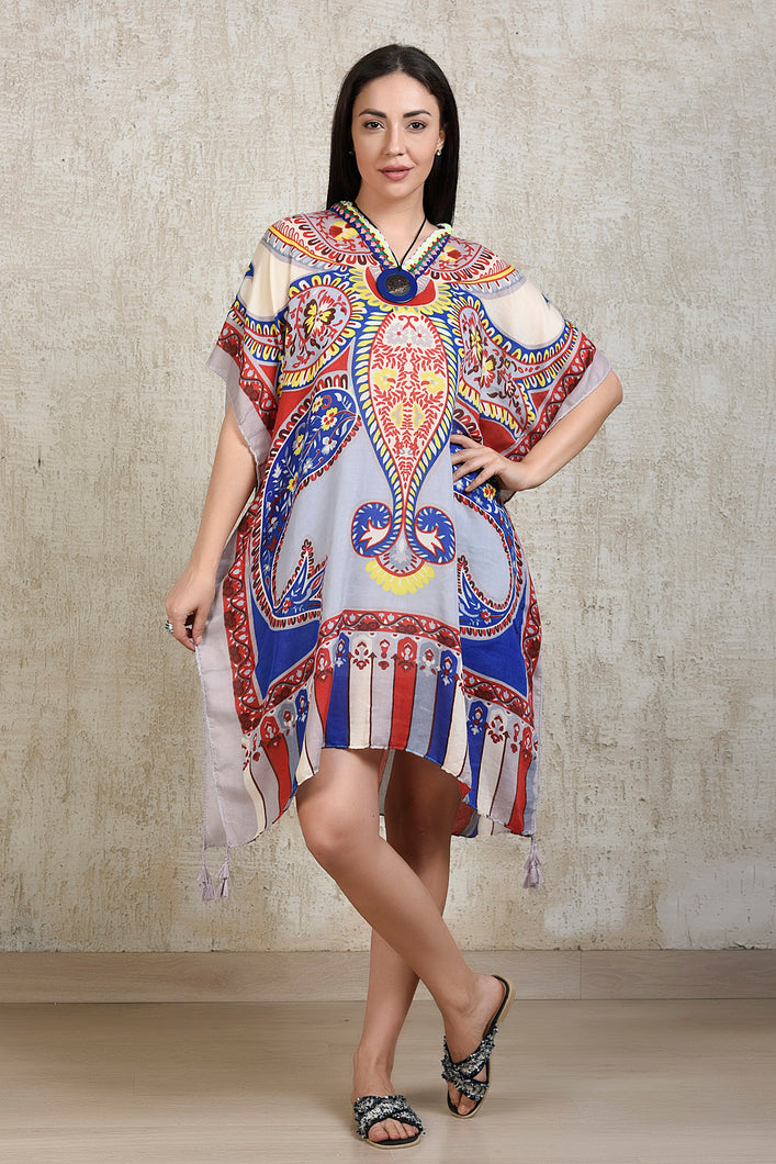 Boho Printed Kaftan - Off White