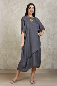 Cotton Comfort Lounge Dress - Grey