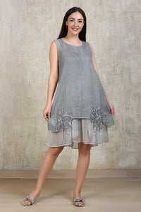 Essential Linen Dress - Grey