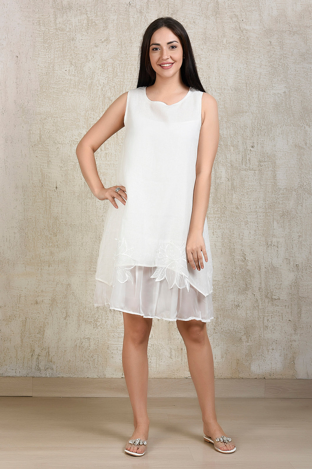 Essential Linen Dress - White
