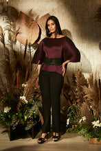 Load image into Gallery viewer, Ritzy Mulberry Top with Ornate Lace Belt