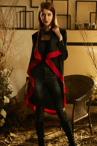 Splendid Waterfall Jacket - Black & Red
