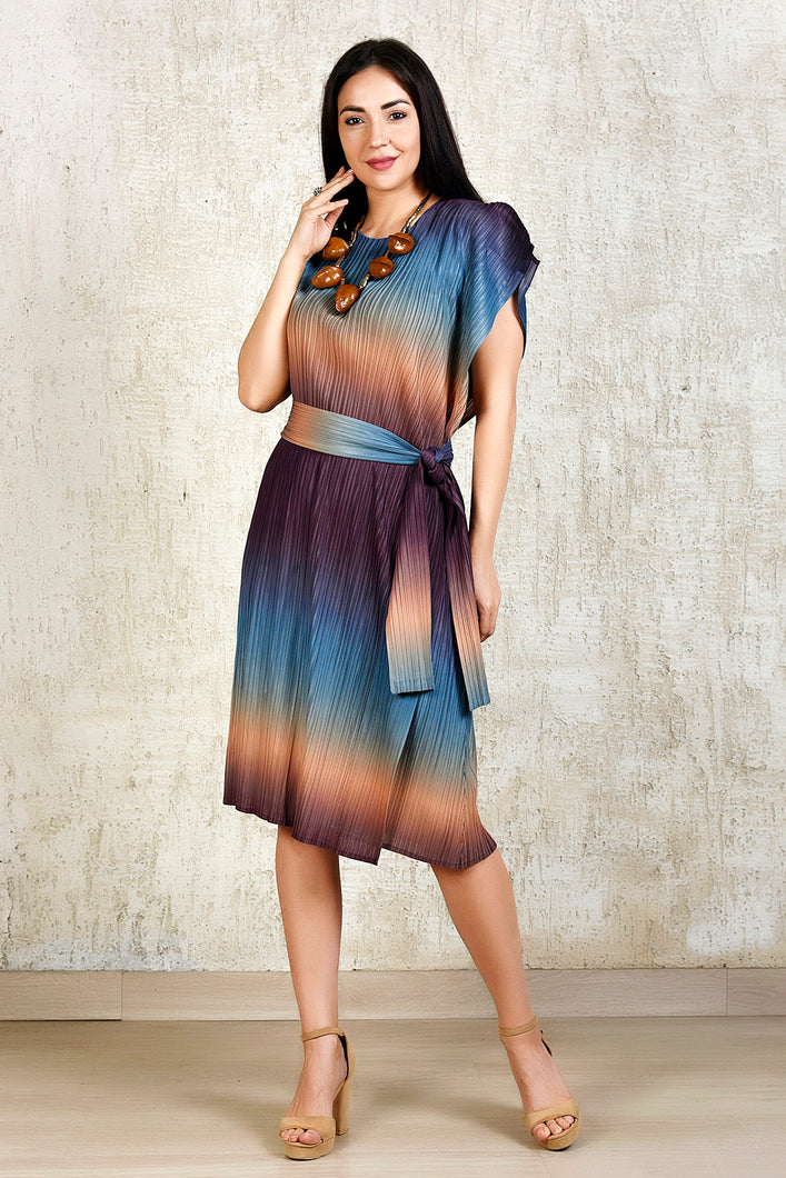Ombre Kaftan Dress -Blue