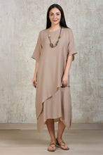 Load image into Gallery viewer, Cotton Comfort Lounge Dress - Beige
