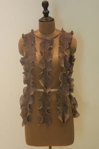 Party Frill Top - Grey