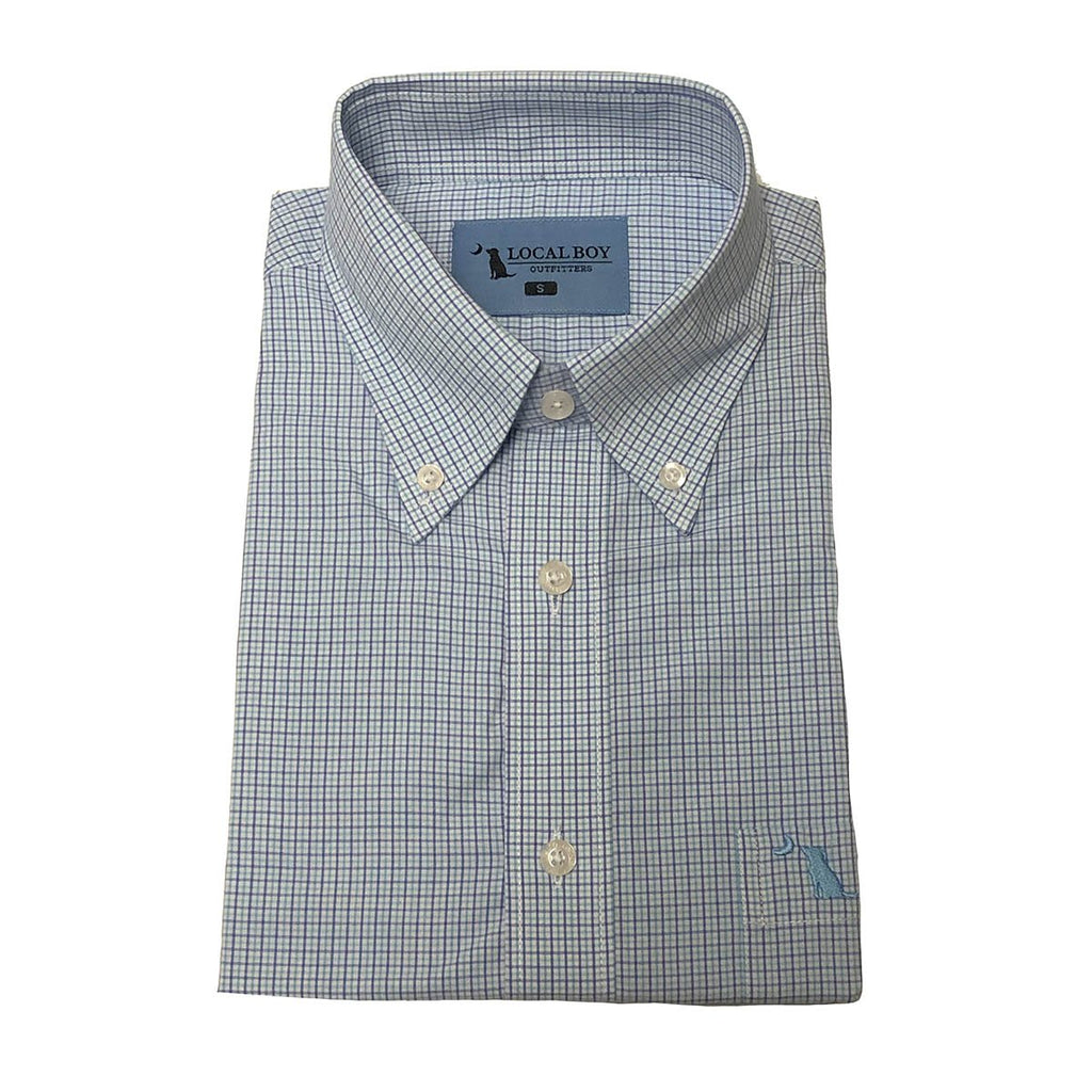 Bamboo Dress Shirt - Light Blue/Purple/Green
