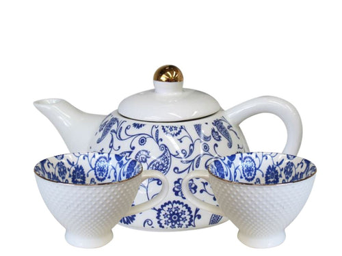 Indian Blue Tea Set for 2