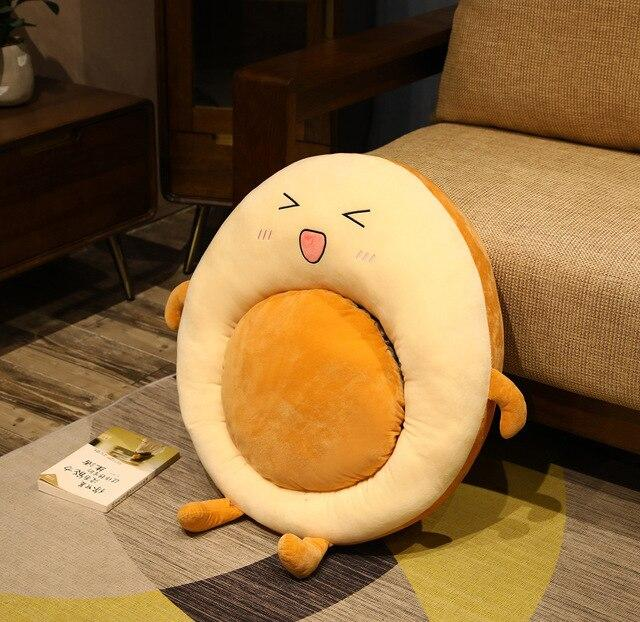 Adorable Egg in a Hole Breakfast Bagel Cushion - Kawaiies - Adorable - Cute - Plushies - Plush - Kawaii
