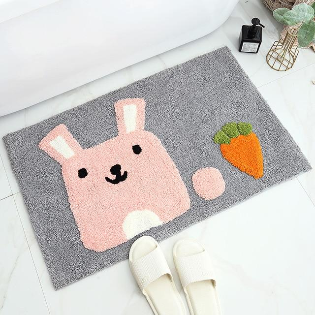 Adorable Pink Bunny Bathroom Mat - Kawaiies - Adorable - Cute - Plushies - Plush - Kawaii