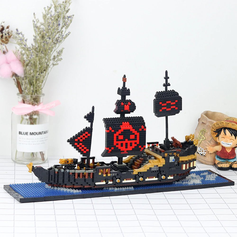kawaiies-softtoys-plushies-kawaii-plush-Anime One Piece Pirate Ships Nano Blocks | NEW Build it Black Pearl (1790 pcs)
