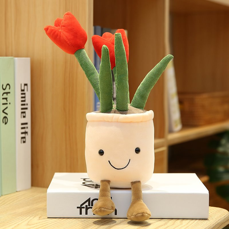 Bubbly Tulip Flower Pot Plush - Kawaiies - Adorable - Cute - Plushies - Plush - Kawaii