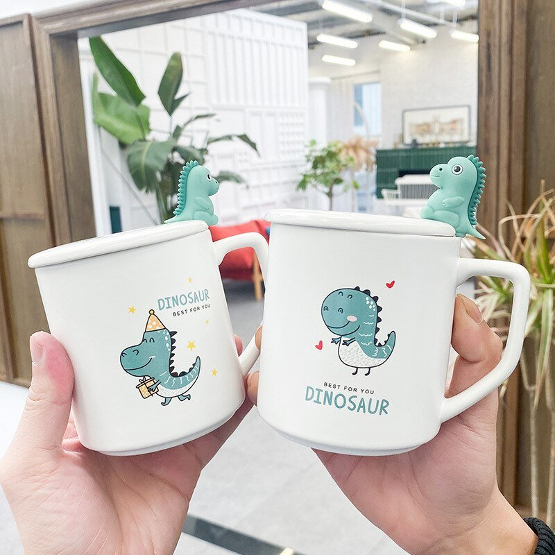 Ceramic Little Horn Dinosaur Mugs | NEW - Kawaiies - Adorable - Cute - Plushies - Plush - Kawaii
