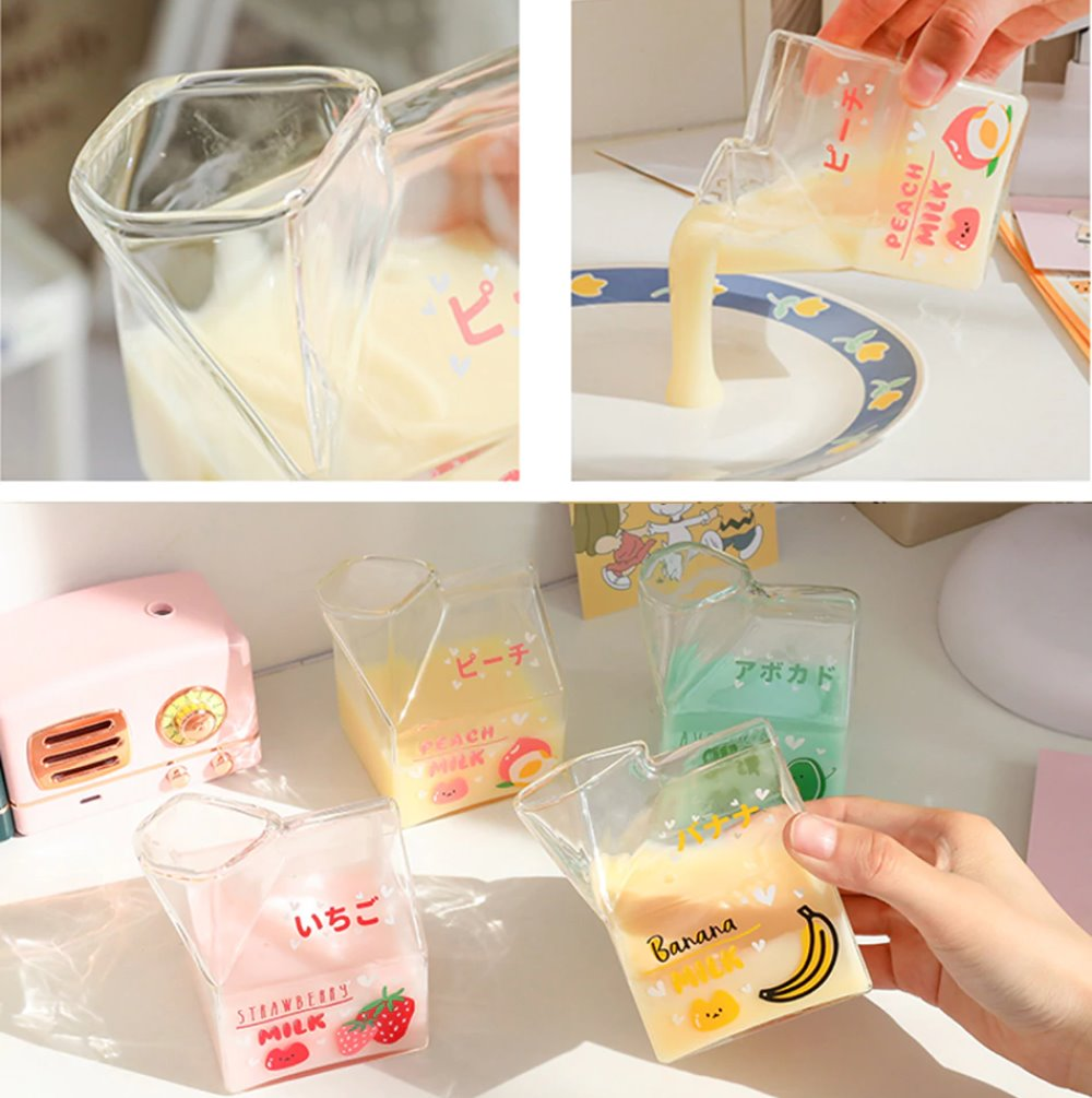 Cute Fruit Milk Carton Shape Cup - Kawaiies - Adorable - Cute - Plushies - Plush - Kawaii