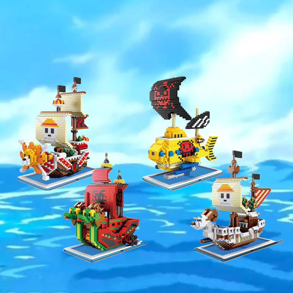 kawaiies-softtoys-plushies-kawaii-plush-Cute Nano One Piece Pirate Ships | NEW Build it