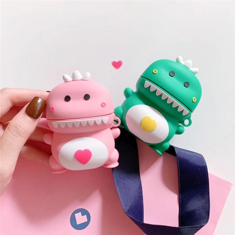 Dino Lovers Airpods Cases (1&2&Pro) - Kawaiies - Adorable - Cute - Plushies - Plush - Kawaii