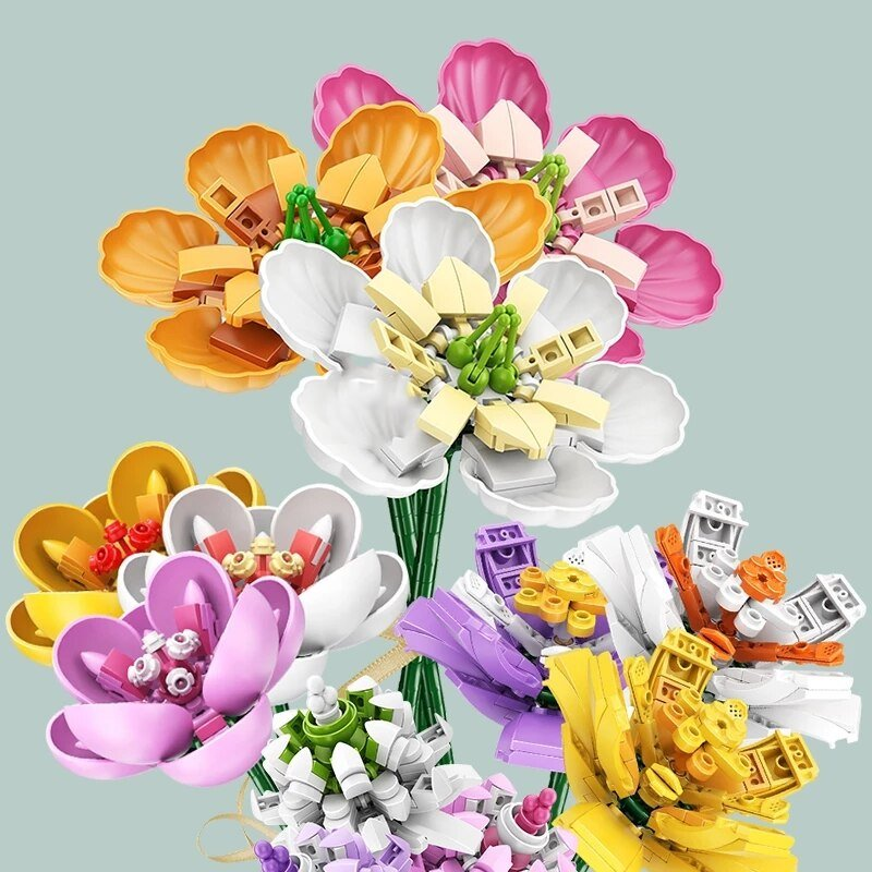 Everlasting Romantic Flower Bouquet Building Set | NEW - Kawaiies - Adorable - Cute - Plushies - Plush - Kawaii