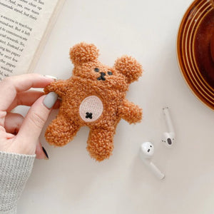 Fluffy Bear Airpods Case (1&2&Pro) - Kawaiies - Adorable - Cute - Plushies - Plush - Kawaii